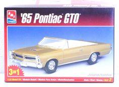AMT ERTL '65 PONTIAC GTO CONVERTIBLE HT (3 IN 1) MODEL CAR KIT NIB #8201 1/25 #AMTERTL