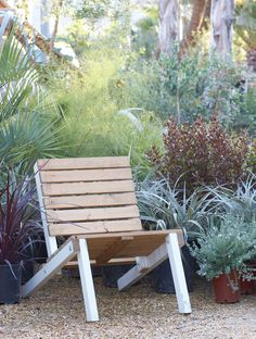 Flora Grubb newsletter - my idea: use weathered fencing boards