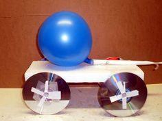 CD rocket engine (balloon) car