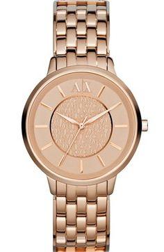 Rose Gold Boyfriend Watch - Armani Exchange I love omg Handbag Accessories, Fashion Accessories, Boyfriend Watch, Cool Clocks, Beautiful Watches, Pandora, Fashion Watches, Body Jewelry, Jewelery