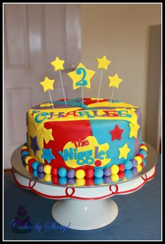The Wiggles birthday cake Bithday Cake, 1st Birthday Cakes, Baby Girl Birthday, 2nd Birthday Parties, Wiggles Birthday, Wiggles Party, Wiggles Cake, The Wiggles, Second Birthday Ideas
