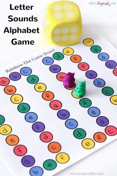 Alphabet game that teaches kids to identify letters and letter sounds. A super fun alphabet activity! Alphabet game that teaches kids to identify letters and letter sounds. A super fun alphabet activity! Letter Games, Letter Activities, Literacy Activities, Letter Recognition Games, Teaching Resources, Letter Identification Activities, Word Games, Preschool Letters, Kindergarten Literacy
