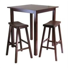 Eating In:  Square Bar Tables for Small Kitchens