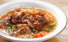 Oxtail Soup with Red Wine and Root Vegetables