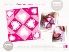 Valentines Day Fill-in Fortune Teller Free Download