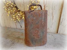 Antique Large Primitive Cow Bell / Hand Forged by AntiqueShopGirl, $32.00