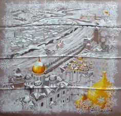 "Hermes scarf ""De Passage a Moscou"" silk  #Hermes #Scarf"