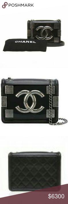 8e5c2488b1dd Selling this NWT Chanel Black Lambskin Lego Brick Boy Bag on Poshmark! My  username is
