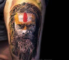 Sadhu tattoo by Michael Taguet