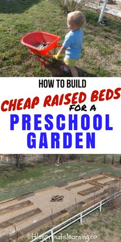 At Little Sprouts we are on a tight budget and we built this amazing expansion full of cheap raised beds for a preschool garden with a village of help.
