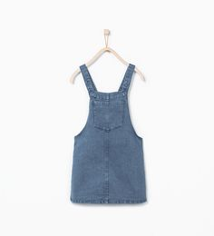 Image 2 of Denim pinafore dress from Zara