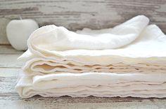 Pure linen towels set of 4  Off-white thick linen от pureWHITEspa