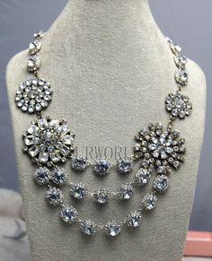 beadwork necklacebib necklacestatement by Turquoiseworld2012, $29.90