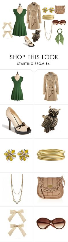 """""""50s"""" by camillarysjedal ❤ liked on Polyvore featuring H&M, Enzo Angiolini, Nordstrom, Fantasy Jewelry Box, Oasis, MANGO and Laura Ashley"""