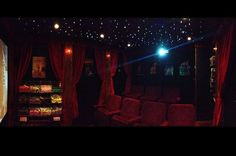 Cinema: Inside the shed has been transformed into a cutting edge cinema