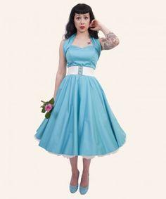 50s style white wedding dress