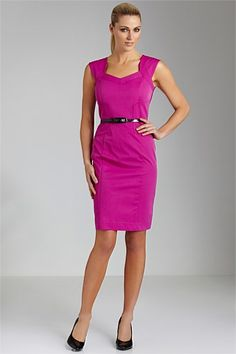 Women's Dresses - Emerge Sateen Dress with Free Belt
