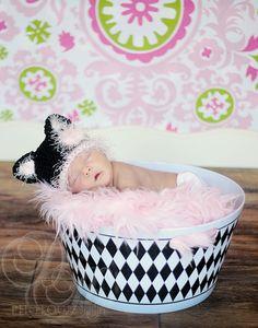 Baby Cat Hat, Newborn Crochet Beanie, Animal Hat, Baby Kitten Costume, Baby Girl Hats Halloween. $26.00, via Etsy.