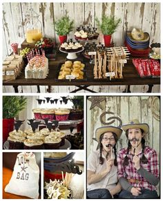Western Kids DIY Party, goody bags, cupcakes, kids party spreads