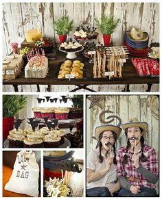 cowboy party favor box - Google Search