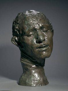 uguste Rodin: Heroic Head of Pierre de Wiessant, One of the Burghers of Calais Modern Sculpture, Sculpture Art, Monet, Rodin Drawing, Avant Garde Artists, French Sculptor, Cleveland Museum Of Art, Auguste Rodin, Art Techniques