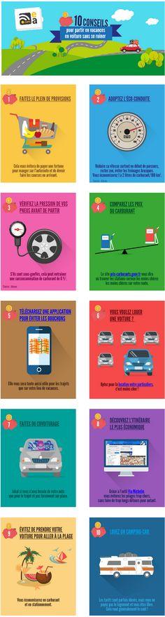 Les 10 conseils d'Euro-Assurance pour partir en vacances en voiture sans se ruiner !
