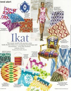 Ikat: The exotic motif with ancient roots looks fresher than ever, energizing furnishings and accessories - even this season's runway shows.