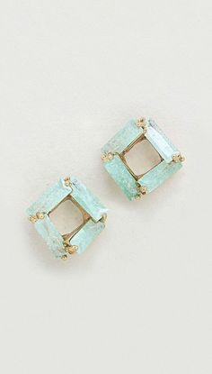 Taylor Earrings in Sugared Mint CZ
