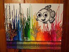Hey, I found this really awesome Etsy listing at http://www.etsy.com/listing/119258080/finding-nemo-melted-painting-art
