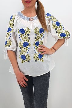 Palestinian Embroidery, Blouses For Women, Tommy Hilfiger, Long Sleeve, Costume, Sleeves, Shirts, Tops, Products