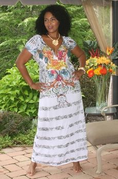 Women's Plus Size Cover Ups - Always For Me Cover Long Tattoo Dress #568X - NO RETURNS