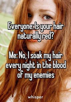 Is Your Hair Naturally Red?