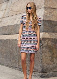 loving this Jonathan Simkhai dress, perfect print for summer #fashion