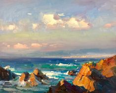 Pescadero 24x30 SOLD, Ovanes Berberian sold paintings #OilPaintingOcean #OilPaintingSeascape