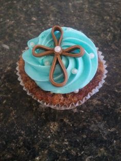 Baptism Cupcakes. Or good for church benefits, church get togethers or church fundraisers.