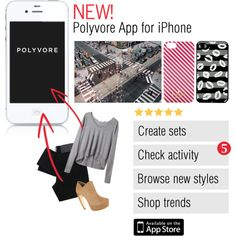"""New! Polyvore iPhone App"" by polyvore on Polyvore"