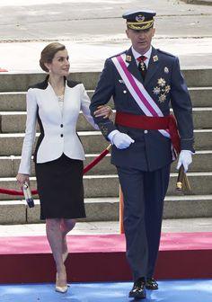 Los Reyes presiden el Día de las Fuerzas Armadas. 28.05.2016