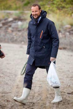 Crown Prince Haakon of Norway visits the community of Steigen on 09.09.2014 in Nordland, Norway.
