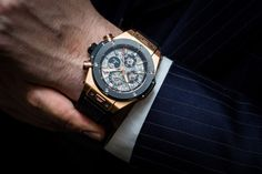 The Big Bang Chrono Perpetual Calendar in King Gold Hublot very first Perpetual Calendar to celebrate the 10 year anniversary of the by hautetimeuae Big Watches, Sport Watches, Cool Watches, 10 Year Anniversary, Perpetual Calendar, Luxury Watches For Men, Automatic Watch, Digital Watch, Bigbang