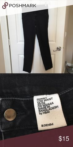 Black Denim Skinny Jeans These skinny jeans are in good condition and have been barely worn. H&M Jeans Skinny