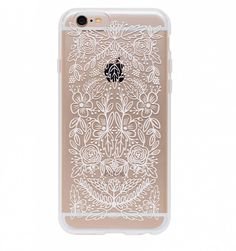 iPhone 6 (in gold) + this case https://riflepaperco.com/shop/phone-cases/floral-lace-everyday-iphone-6-clear-case/
