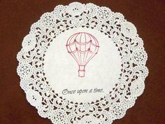 hot air balloon doily coaster