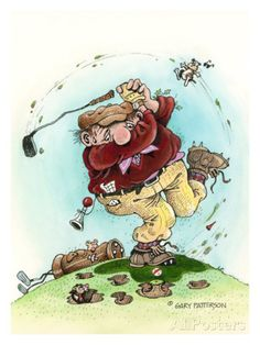 Full Swing- The Golfer Giclee Print by Gary Patterson at AllPosters.com
