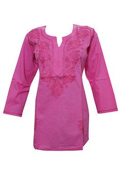 WOMEN-INDIAN-ETHNIC-TUNIC-TOP-HAND-EMBROIDERED-PINK-HIPPY-SHORT-KURTI-BLOUSE-L  http://stores.ebay.com/mogulgallery/DESIGNER-KURTI-/_i.html?_fsub=665889019&_sid=3781319&_trksid=p4634.c0.m322