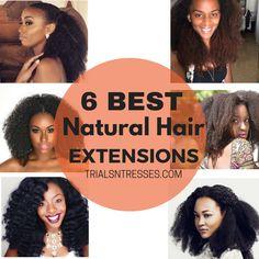 6 Best Natural Hair Extensions | http://www.shorthaircutsforblackwomen.com/kinky-hair-weave/