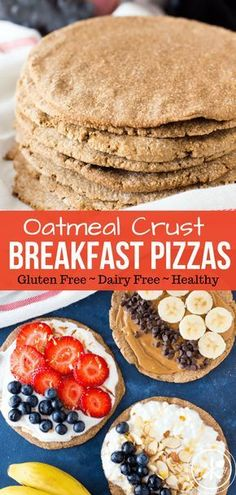 Oatmeal Crust Breakfast Pizzas are a new spin on your favorite bowl of oatmeal. Oatmeal Crust Breakfast Pizzas are a new spin on your favorite bowl of oatmeal. Half cookie half pizza they are a healthy way to start your day! Source by twocametrue Breakfast Pizza Healthy, Healthy Pizza Recipes, Best Breakfast, Gluten Free Recipes, Gourmet Recipes, Healthy Morning Breakfast, Healthy Food, Healthy Oatmeal Recipes, Clean Breakfast