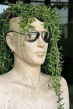 ceramic head planter - Google Search