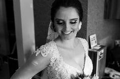 retrato da noiva pronta para o casamento