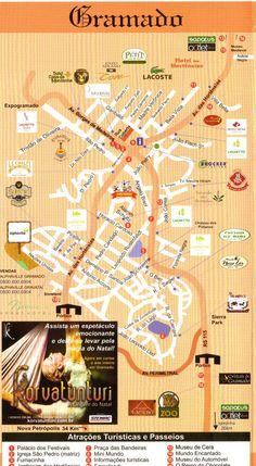 Mapa de Gramado RS