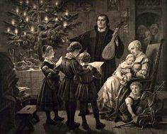 Plockhorst, Bernhard (b Martin Luther, Christmas Eve w Family Reformation Day, Protestant Reformation, Old Time Christmas, Christmas Eve, Family Christmas, Jean Calvin, Martin Luther Reformation, Hole In My Soul, 5 Solas